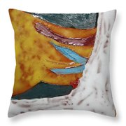 Masks - Tile Throw Pillow