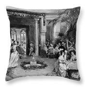 Masquerade Ball At The Ritz Hotel Paris Throw Pillow