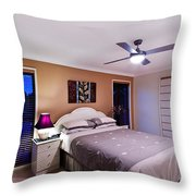 Master Bedroom At Twilight Throw Pillow