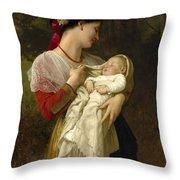 Maternal Admiration Throw Pillow