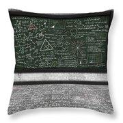 Maths Formula On Chalkboard Throw Pillow