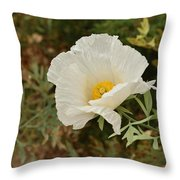 Matilija Poppy I Throw Pillow