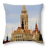 Matthias Church - Budapest Throw Pillow