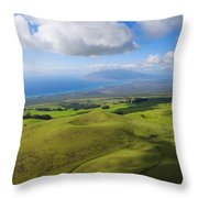 Maui Aerial Throw Pillow