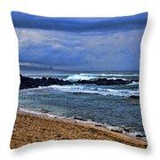 Maui Beach Throw Pillow