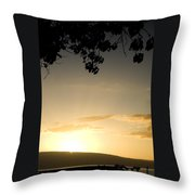 Maui Gold Throw Pillow