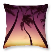 Maui Palms Throw Pillow