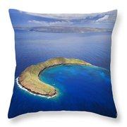 Maui, View Of Islands Throw Pillow