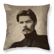 Maxim Gorky Throw Pillow