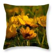 Maximilian Sunflowers Throw Pillow