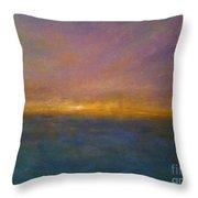 Mayflower Beach Sunset Throw Pillow