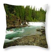 Mcdonald Creek Throw Pillow