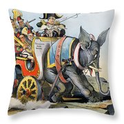 Mckinley Cartoon, 1896 Throw Pillow