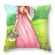 Meadow Maid Throw Pillow