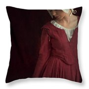 Medieval Maid Servant  Throw Pillow