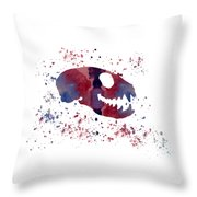 Meerkat Skull Throw Pillow