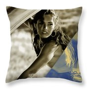 Megan Fox Collection Throw Pillow