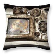 Melted Camera Throw Pillow
