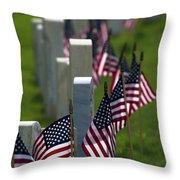 Memorial Day Throw Pillow