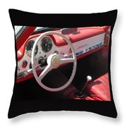 Mercedes 300sl Dashboard Throw Pillow