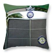 Mercedes Benz Hood Ornament Throw Pillow