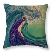 Mermaid Wave Throw Pillow