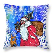 Merry Christmas. Throw Pillow