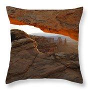 Mesa Arch Sunrise - D003097 Throw Pillow