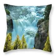 Mesa Falls - Yellowstone Throw Pillow