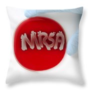 Methicillin Resistant Staphylococcus Throw Pillow