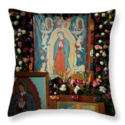 Mexico Our Lady Of Guadalupe Pilgrimage Throw Pillow
