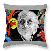 Mf Hussain Throw Pillow