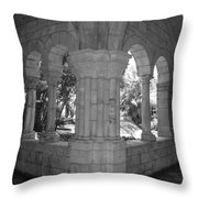 Miami Monastery In Black And White Throw Pillow