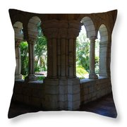 Miami Monastery Throw Pillow