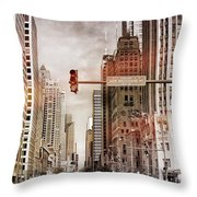 Michigan Ave - Chicago  Throw Pillow