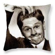 Mickey Rooney, Vintage Actor Throw Pillow