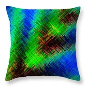 Micro Linear 7 Throw Pillow