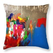 Mid Scene Throw Pillow