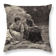 Midday Rest Throw Pillow