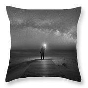 Midnight Explorer At Assateague Island Throw Pillow