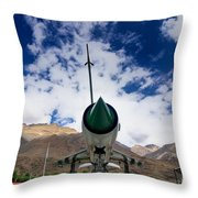 Mig-21 Fighter Plane Of Indian Air Force Used In Kargil War Displayed As Victorious Memory Throw Pillow