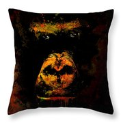 Mighty Gorilla Throw Pillow
