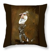 Miguel Angel Jimenez Throw Pillow