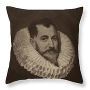 Miguel De Cervantes Throw Pillow