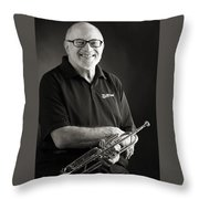 Mike Vax Professional Trumpet Player Photographic Print 3771.02 Throw Pillow