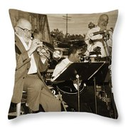 Mike Vax Professional Trumpet Player Photographic Print 3773.02 Throw Pillow