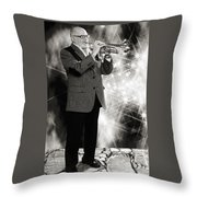 Mike Vax Professional Trumpet Player Photographic Print 3774.02 Throw Pillow