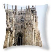 Milan Cathedra, Domm De Milan Is The Cathedral Church, Italy Throw Pillow