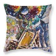 Miles Davis Jazz Throw Pillow