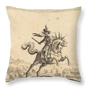 Military Commander On Horseback Throw Pillow